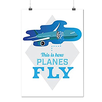 How Airplane Fly Jet Sky Bird Matte/Glossy Poster A0 A1 A2 A3 A4 | Wellcoda
