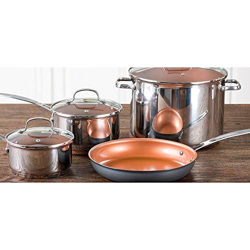 NuWave Duralon Ceramic Nonstick 7-Piece Cookware Set with 12' Frying Pan