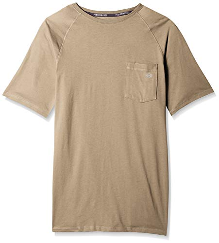 - Dickies Men's Short Sleeve Performance Cooling Tee, Desert Sand, 2X