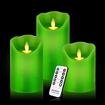 Amazon Com Smtyle Green Flameless Candles With Remote