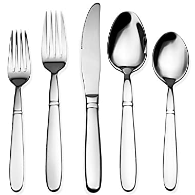 Bruntmor 40-Piece 18/10 Stainless Steel Crux Silverware Cutlery Set