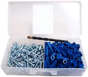 Standard Duty Wall Anchors Pack of 100 #10 Screws Plastic Construction Fits #8