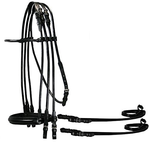 Opulent Rolled Weymouth Full Bridle & Double (Rolled Bridle)
