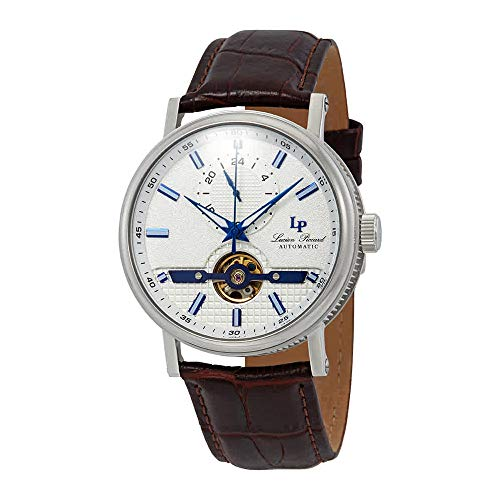 Lucien Piccard Open Heart 24 Automatic Silver Dial Men's Watch LP-28002A-02SBLABRW