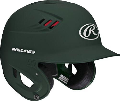 Rawlings 80 MPH Matte Alpha Sized Batting Helmet, Green, Medium by Rawlings