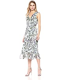 Women's Printed Chiffon Wrap Dress