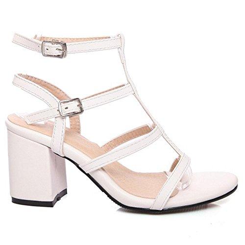 Sandals Damen Sandalen, whitepu - Größe: 39