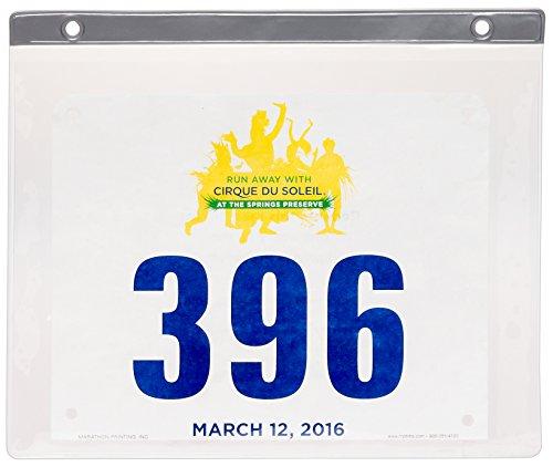 24 Ct Display (Race Bib Display Sleeves - 24 Pack Clear PVC Marathon Bib Insert Sheets by LISH)