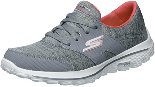 Skechers Women's Go Walk 2 Backswing Golf-Shoes,Gray/Charcoal,8 M US