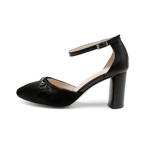 BalaMasa , Sandales Compensées Femme - Noir - Noir, 36.5