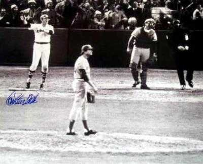 Autograph Warehouse 74389 Carlton Fisk Autographed Photo Boston Red Sox 1975 World Series Game 6 Winning Home Run Wave 16X20 Image No 2 from Autograph Warehouse