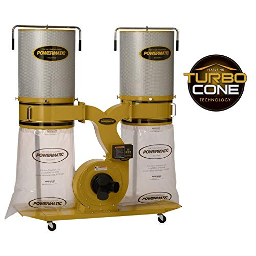 - Powermatic PM1900TX-CK1 Dust Collector 3HP 1PH 230-Volt 2-Micron Canister Kit