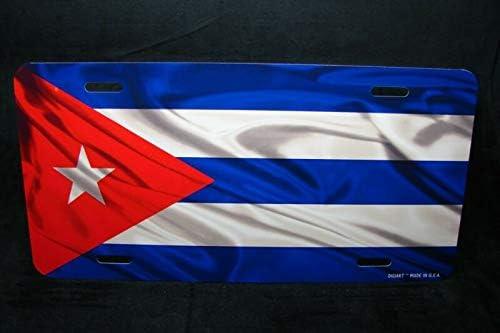 Cuba Flag Metal Car License Plate Tag Placa De Licencia De Bandera Cubana Car Novelty Accessories License Plate Art Auto