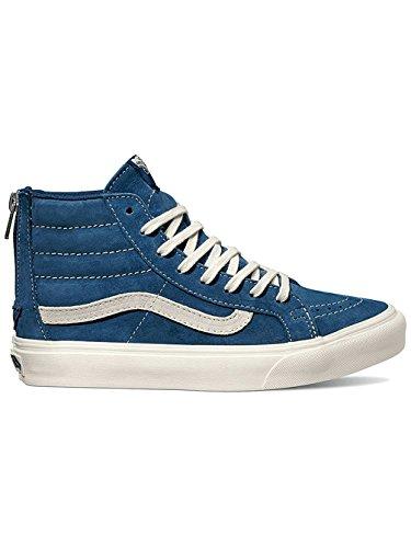 Vans Sk8-hi Slim Zip, Sneakers Alte Unisex-adulto Blu (scotchgard Ossidiana / Blanc De Blanc)