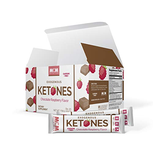 Exogenous Ketones Powder and BHB - Caffeine Free (Chocolate Raspberry) Keto Drink Mix & Fast Acting Ketosis Packets - Ketone Drink for Ketosis - Ketones Supplement (20 Keto Packets) - MCM Nutrition