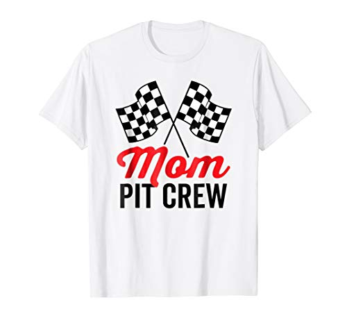 Mom Pit Crew Shirt for Racing Party Costume