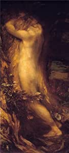 'George Frederic Watts - Eve Repentant,1875' oil painting, 12x27 inch / 30x67 cm ,printed on Linen Canvas ,this Replica Art DecorativeCanvas Prints is perfectly suitalbe for Home Theater decoration and Home decoration and Gifts