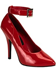 Womens Sexy High Heel Shoes Classic Pumps Shoes 5 Inch Heel Red Patent Pumps