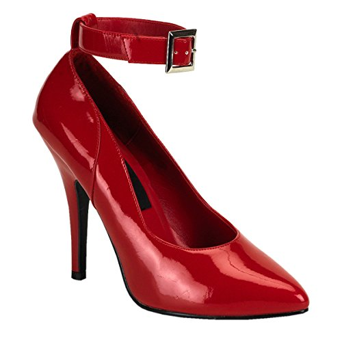 5 Inch Classic Pump Shoes - Women's Sexy High Heel Shoes Classic Pumps Shoes 5 Inch Heel Red Patent Pumps Size: 8
