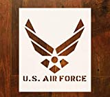 OBUY Large U.S Air Force Stencil for Painting on Wood, Fabric, Walls, Airbrush + More | Reusable 12 x 14 inch Mylar Template (USAF Military Logo)