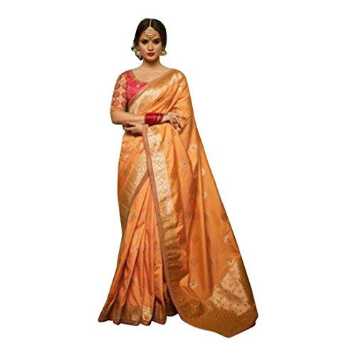 Wedding Zari Saree Collection Silk Bridal Sari Blouse Women Indian Ethnic HIT 2684 ()