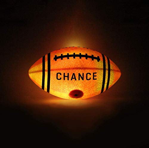 - Chance Light Up Football : Glow in The Dark LED Ball (Sizes 7 Kids & Youth Football, 9 Official NFL Football Size) (6 Junior, 10.5