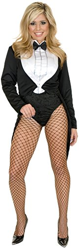 Charades Women's Miss Formalities Body Suit, Black, Large
