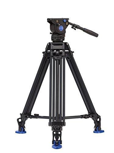 Benro BV4 Pro Twin Leg Aluminum Video Tripod Kit (BV4PRO) by Benro