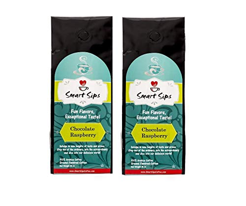 - Smart Sips, Chocolate Raspberry Ground Gourmet Flavored Coffee, 20 Ounce