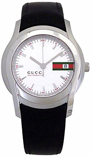 243b57c2fb8 Gucci Men s Automatic Stainless Steel and Leather Casual Watch(Model   YA055207)