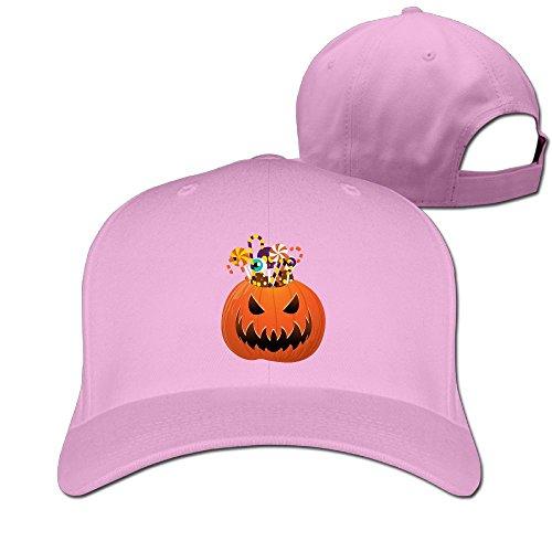 [Halloween Pumpkin Unisex Adjustable Travel Hat & Cap Pink] (Halo Halloween Costumes Elite)