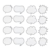 DoTebpa 16PCS 480sheets Thought Cloud Sticky Notes,Talking Bubble Shape,Self-Stick Notes for Students, Home, Office, Easy Post
