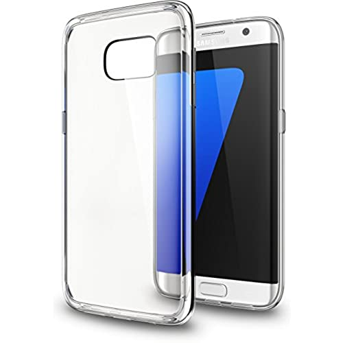 Galaxy S7 Edge Case, Bristone [Scratch Resistant] AIR CUSHION [Crystal Clear] Clear back panel + TPU bumper for Sales