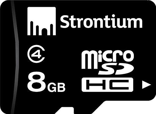 Strontium 8 GB MicroSDHC Memory Card  Class 4