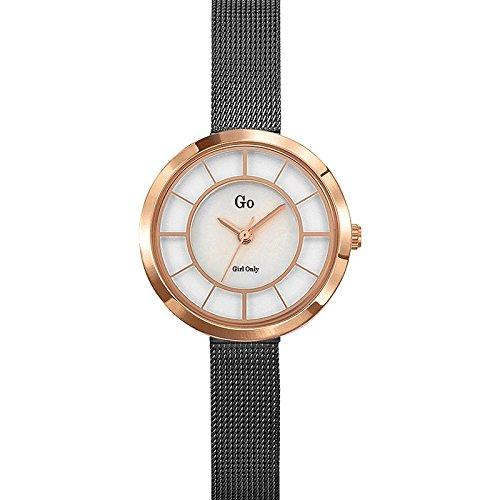 Go Girl Only-695026-Reloj para Mujer Cuarzo, analógico, Correa de Acero, Color Gris y Crema: Amazon.es: Relojes