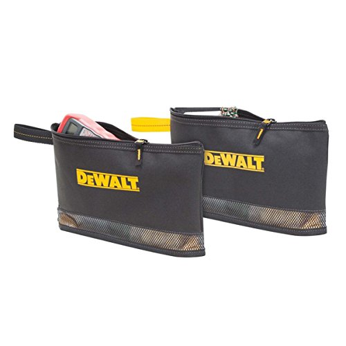 DEWALT DG5102 2 Multi-Purpose Zippered Bags, Black