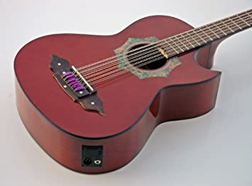 Nueva acústica eléctrica Tex Mex Norteno bajo sexto guitarra: Amazon ...