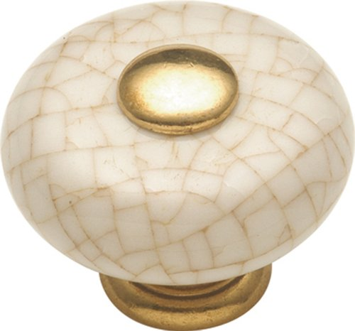 Hickory Hardware P222-VC 1-1/4-Inch Tranquility Cabinet Knob, Vintage Brown Crackle