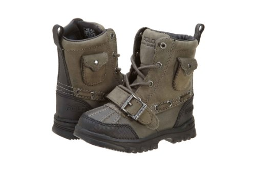 Polo by Ralph Lauren Hamlin Lace-Up Boot (Infant/Little Kid/Toddler) - stylishcombatboots.com