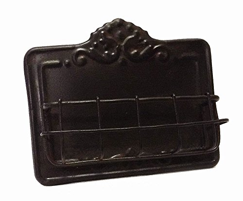 Vintage Style Business Card Holder - Antiqued Dark Brown Finish -