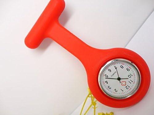 Batch Purchase Batch Purchase 1pc coloré Silicone Souple léger Portable infirmière Montre de Poche médecin Montre Exclusive G