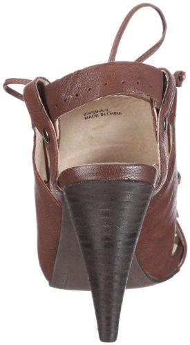 Bronx Coral 37 juma saddle 83769-A5 - Sandalias de vestir de cuero para mujer Marrón (Braun/Cacao)