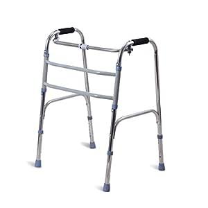 Marco para Caminar Acero Inoxidable Grueso Andador Anciano Ayuda ...