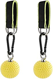 Sparkfire Climbing Pull Up Power Ball Hold Grips with Straps, Non-Slip Hand Grips Strength Trainer Exerciser f