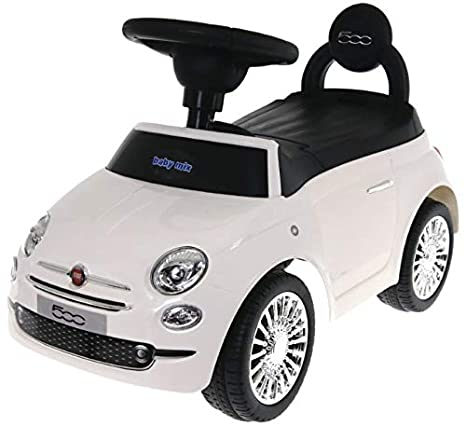 Baby Mix Fiat 500 antideslizante Auto hz620 (Color Blanco): Amazon ...
