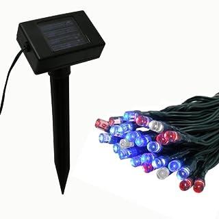 Flipo Solar 50 LED String Light, Red, White and Blue