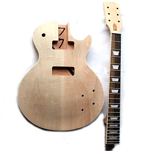 Project Unfinished DIY Electric Guitar Kit With Flame Maple Top 2cm By CNC With P90