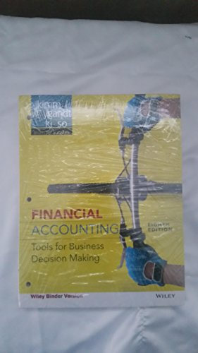 Financial Accounting 8th Edition Binder Ready Version 8th (eighth) Edition by Weygandt, Jerry J., Kieso, Donald E., Kimmel, Paul D. published by Wiley (2011)