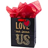 Hallmark Mahogany Medium Gift Bag with Tissue Paper (Love Me Us)