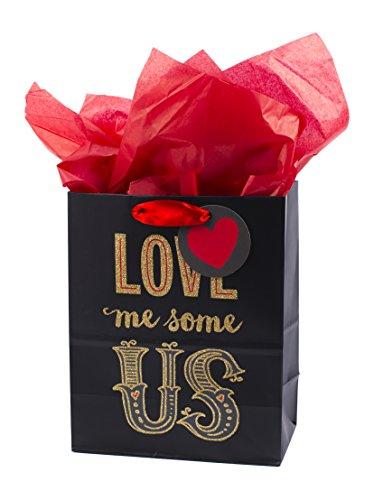 Hallmark Mahogany Valentine's Day Medium Gift Bag with Tissue Paper (Love Me Us)